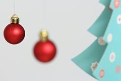 Decorações coloridas das bolas do Natal Foto de Stock Royalty Free