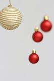 Decorações coloridas das bolas do Natal Fotografia de Stock