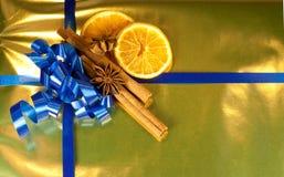 Decorações com frutos secos Fotos de Stock Royalty Free