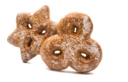 Decorações comestíveis das cookies do Natal Imagens de Stock