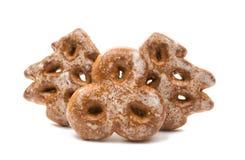 Decorações comestíveis das cookies do Natal Imagens de Stock Royalty Free