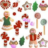 Decorações comestíveis do Natal ilustração stock