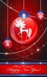 Decorações da árvore de Natal Fotos de Stock