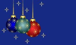 decorações da árvore de Natal de Novo-ano. Fotos de Stock Royalty Free