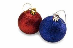 Decorações da árvore de Novo-Ano Imagem de Stock