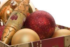 Decorações da árvore de Novo-Ano Foto de Stock Royalty Free