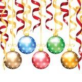 Decorações da árvore do Natal e do ano novo Fotografia de Stock Royalty Free