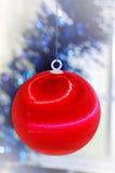decorações da árvore do `s de Novo-ano Imagem de Stock Royalty Free