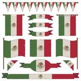 Decorações da bandeira mexicana Fotos de Stock