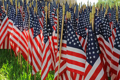 Decorações da bandeira - um feriado americano Fotos de Stock Royalty Free