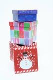 Decorações da caixa de Natal Fotografia de Stock