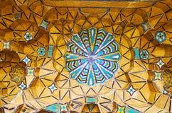 Decorações da casa de Qavam, Shiraz, Irã Fotografia de Stock