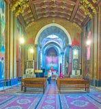 Decorações da catedral armênia em Lvov Fotos de Stock