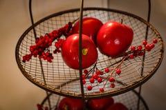 Decorações da cozinha do Natal: Natal do feriado foto de stock