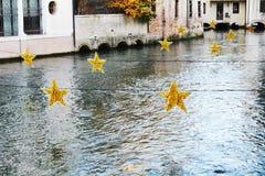 Decorações da estrela em Treviso, Itália Fotografia de Stock