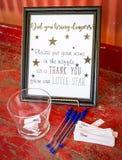 Decorações da festa do bebê Fotografia de Stock Royalty Free