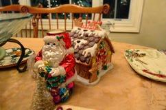 Decorações da mesa de jantar Foto de Stock