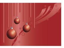 decorações da Natal-árvore ilustração stock