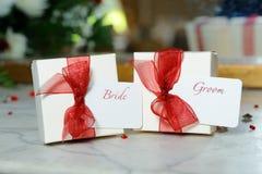 Decorações da noiva e do noivo Foto de Stock Royalty Free