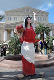 Decorações da Páscoa em Moscou Fotos de Stock Royalty Free