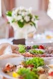 Decorações da tabela do casamento Fotos de Stock