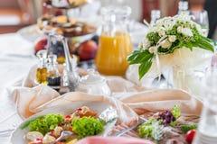Decorações da tabela do casamento Imagens de Stock Royalty Free