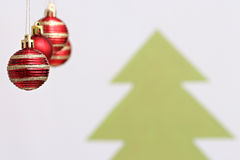 Decorações das bolas do Natal Imagens de Stock Royalty Free