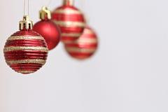 Decorações das bolas do Natal Fotos de Stock