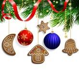decorações das cookies do pão-de-espécie Imagens de Stock Royalty Free