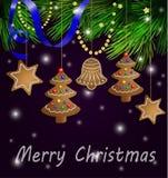 decorações das cookies do pão-de-espécie Imagem de Stock Royalty Free