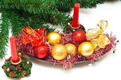 Decorações de Christmass Fotografia de Stock