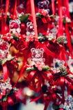 Decorações de cristal da Natal-árvore Fotografia de Stock