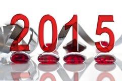 decorações de 2015, de fita e de vidro Imagem de Stock