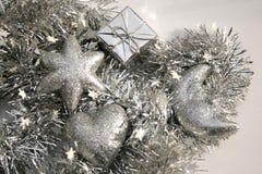 Decorações de prata Imagem de Stock Royalty Free