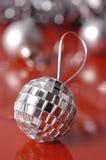 Decorações de prata do Natal fotos de stock