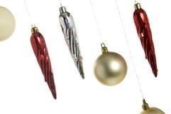 Decorações de suspensão do Natal Fotografia de Stock Royalty Free