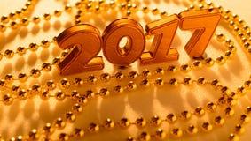 Decorações do ano novo Fotos de Stock Royalty Free