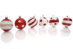 Decorações do bauble do Natal foto de stock