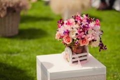 Decorações do casamento Fotografia de Stock Royalty Free