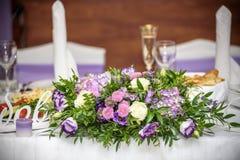 Decorações do casamento com flores Foto de Stock