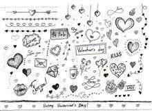 Decorações do dia de Valentim Imagens de Stock Royalty Free