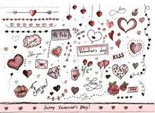 Decorações do dia de Valentim Imagem de Stock