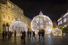 Decorações do feriado em Sevilha, Espanha imagem de stock royalty free
