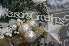 Decorações do feriado, estações que cumprimentam fotografia de stock royalty free