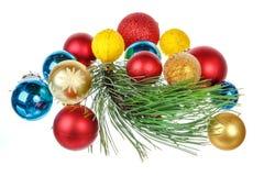 Decorações do feriado isoladas no fundo branco Foto de Stock Royalty Free