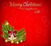 Decorações do fundo do Natal Fotos de Stock Royalty Free