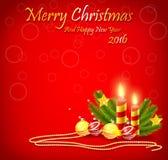 Decorações do fundo do Natal Foto de Stock