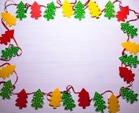 Decorações do Natal Árvores de Natal Fundo branco Imagem de Stock Royalty Free
