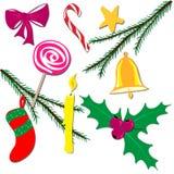 Decorações do Natal Ilustração Stock