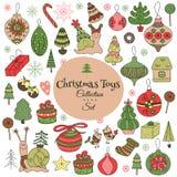 Decorações do Natal ajustadas Imagem de Stock Royalty Free